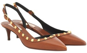 Valentino Rockstud Slingback brown Pumps