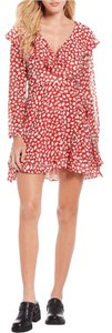 Free People short dress Red Polyester on Tradesy