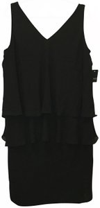 Lauren Ralph Lauren V-neck V-back Tiered Chiffon Size 14 W New With Tags Dress
