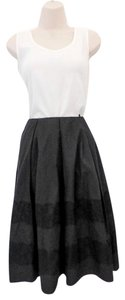 Barneys New York Full Cotton Lace Trim Italian Skirt Black