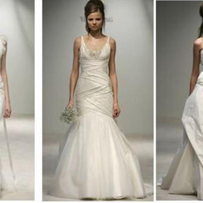 Item - Cream Silk Couture Gown Formal Wedding Dress Size 6 (S)