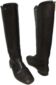 Tory Burch Leather Riding Size8 brown Boots