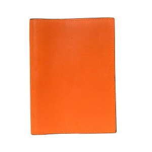 Hermès Authentic HERMES Logos Agenda Day Planner Note Cover Togo Leather