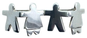 Silpada CHILDREN HOLDING HANDS STERLING SILVER PIN BROOCH Retired 10394