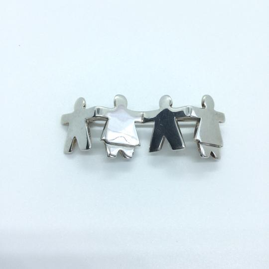 Silpada CHILDREN HOLDING HANDS STERLING SILVER PIN BROOCH Retired 10394 Image 1