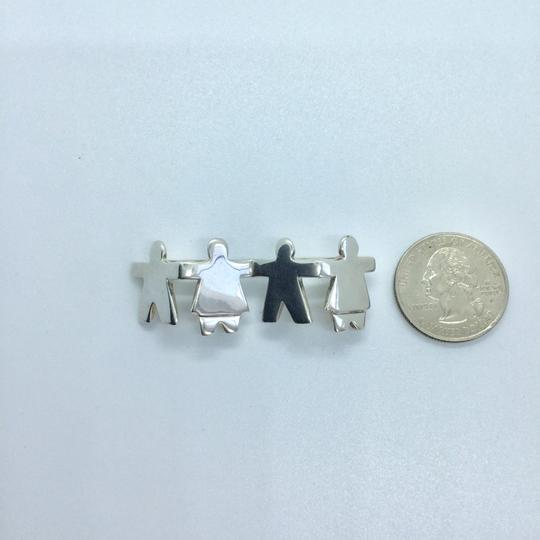 Silpada CHILDREN HOLDING HANDS STERLING SILVER PIN BROOCH Retired 10394 Image 7