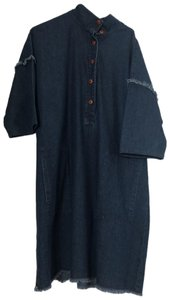 Raquel Allegra short dress blue denim on Tradesy