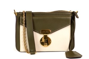 Céline Flap Gold Woc Chain Beige Cross Body Bag