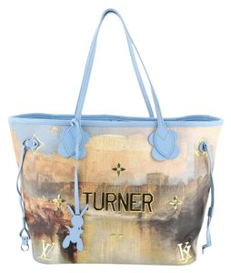 Louis Vuitton Neverfull Limited Edition Jeff Koons Turner Tote in Blue