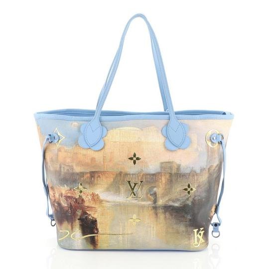 Louis Vuitton Neverfull Limited Edition Jeff Koons Turner Tote in Blue Image 2