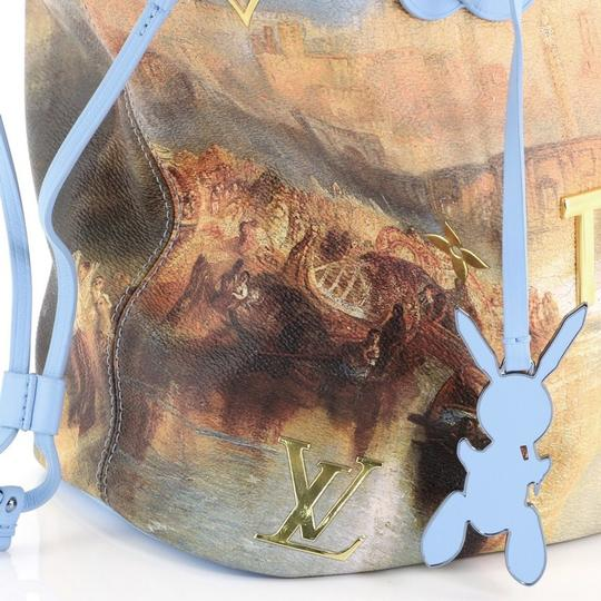Louis Vuitton Neverfull Limited Edition Jeff Koons Turner Tote in Blue Image 5