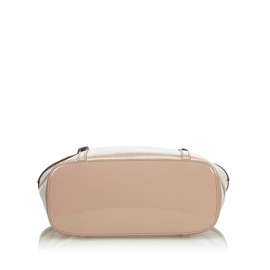 Gucci Monogram Gg Beige Leather Tote in Pink Image 3