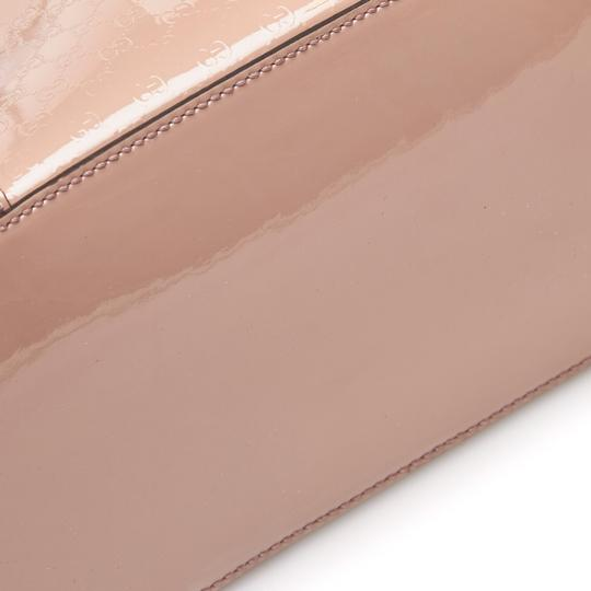 Gucci Monogram Gg Beige Leather Tote in Pink Image 4
