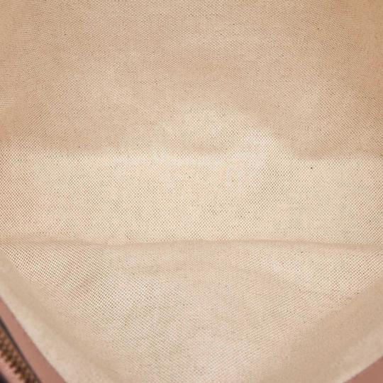 Gucci Monogram Gg Beige Leather Tote in Pink Image 6