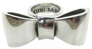 King Baby SMOOTH BOW STERLING SILVER RING