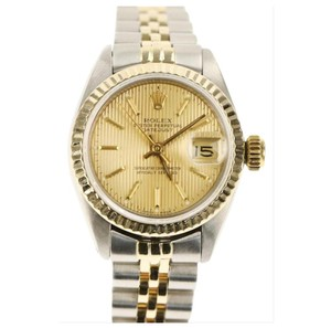 Rolex Rolex Silver and Yellow Gold Datejust Watch