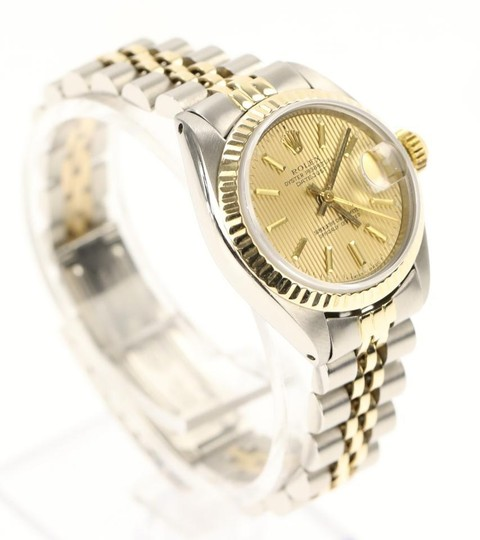 Rolex Rolex Silver and Yellow Gold Datejust Watch Image 1