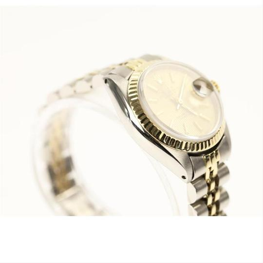 Rolex Rolex Silver and Yellow Gold Datejust Watch Image 5