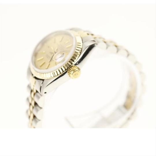 Rolex Rolex Silver and Yellow Gold Datejust Watch Image 6