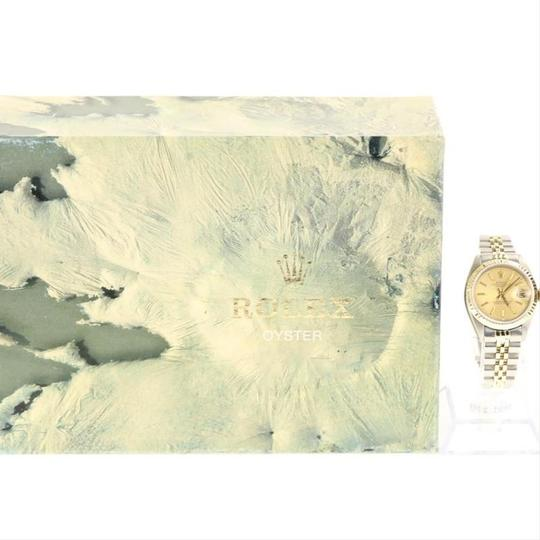 Rolex Rolex Silver and Yellow Gold Datejust Watch Image 8