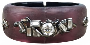 Alexis Bittar Alexis Bittar Red Lucite Crystal Hinge Cuff Bracelet SALE!