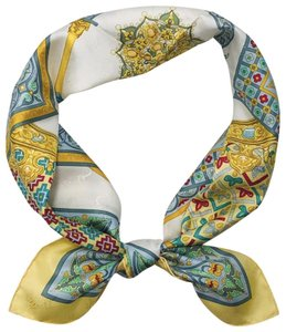 Hermès Hermes 100% Silk Scarf 35 Inch Square Ciels Byzantins in Light Yellow