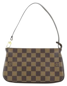 Louis Vuitton Navona Pochette Damier Wristlet in brown