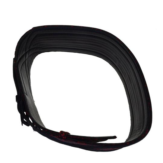 Chanel Auth CHANEL CUIR VERITABLE Belt Nylon leather Red Black Image 4