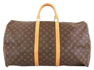 Louis Vuitton Keepall Monogram Canvas brown Travel Bag