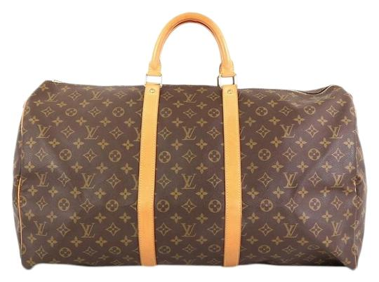 Preload https://img-static.tradesy.com/item/25976424/louis-vuitton-keepall-55-brown-monogram-canvas-weekendtravel-bag-0-2-540-540.jpg