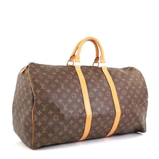 Louis Vuitton Keepall Monogram Canvas brown Travel Bag Image 1