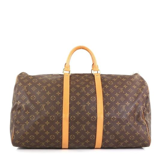 Louis Vuitton Keepall Monogram Canvas brown Travel Bag Image 2