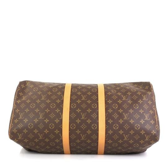Louis Vuitton Keepall Monogram Canvas brown Travel Bag Image 3