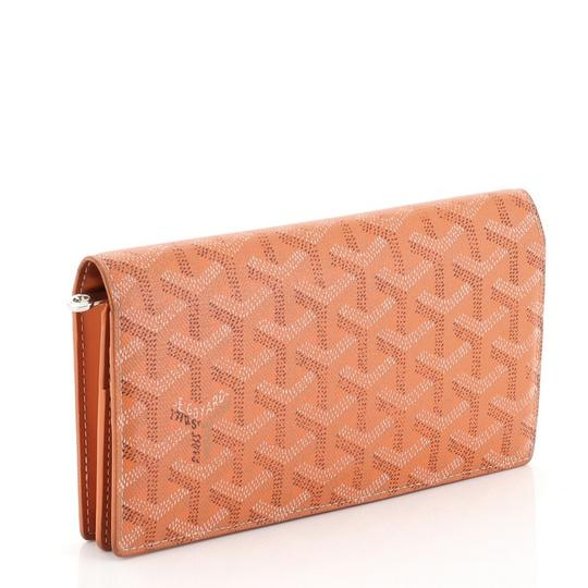 Goyard Richelieu Wallet Coated Canvas orange Clutch Image 1