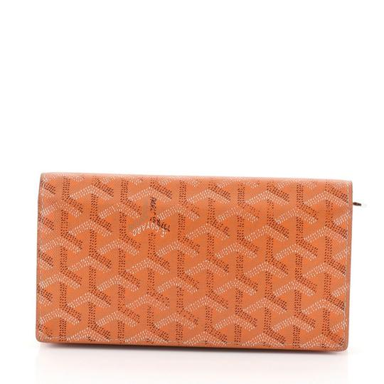 Goyard Richelieu Wallet Coated Canvas orange Clutch Image 2