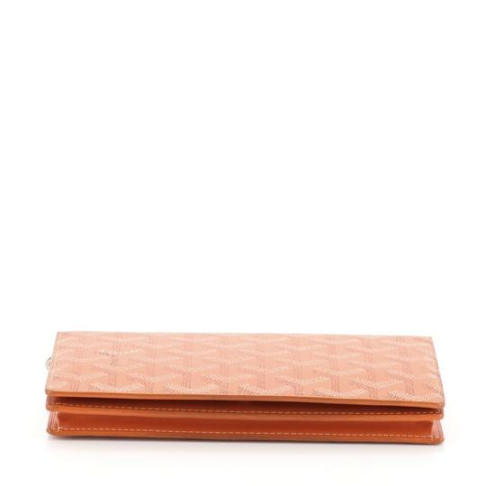 Goyard Richelieu Wallet Coated Canvas orange Clutch Image 3