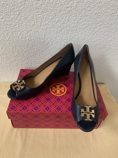 Tory Burch Blue ( Navy ) Wedges Image 1