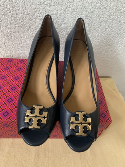 Tory Burch Blue ( Navy ) Wedges Image 3