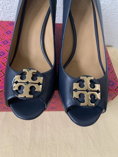 Tory Burch Blue ( Navy ) Wedges Image 4