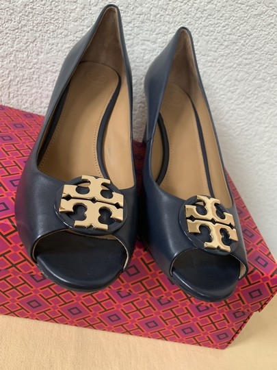 Tory Burch Blue ( Navy ) Wedges Image 5