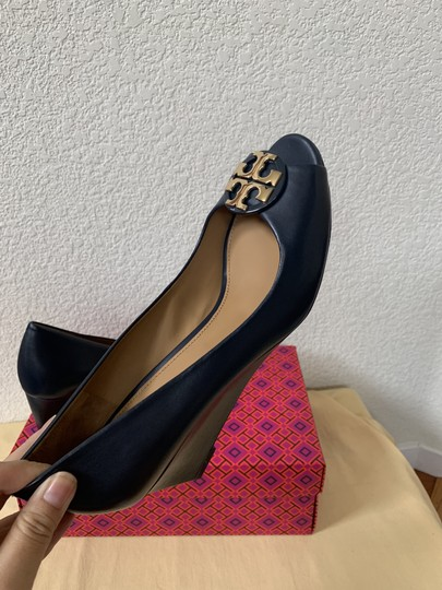 Tory Burch Blue ( Navy ) Wedges Image 8