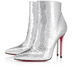 Christian Louboutin So Kate Metallic silver Boots
