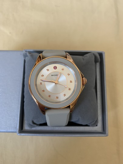 Michele NWT Cape Topaz Rose Gold Taupe Watch MWW27A000023 Image 1