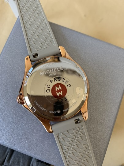 Michele NWT Cape Topaz Rose Gold Taupe Watch MWW27A000023 Image 10