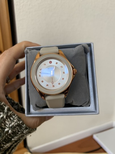 Michele NWT Cape Topaz Rose Gold Taupe Watch MWW27A000023 Image 2