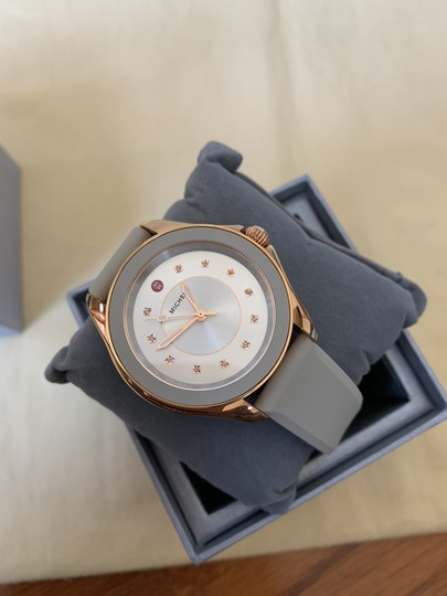 Michele NWT Cape Topaz Rose Gold Taupe Watch MWW27A000023 Image 3