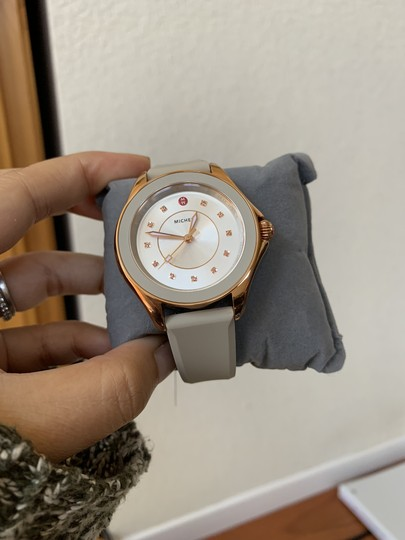 Michele NWT Cape Topaz Rose Gold Taupe Watch MWW27A000023 Image 4