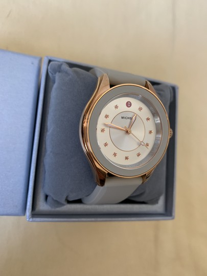 Michele NWT Cape Topaz Rose Gold Taupe Watch MWW27A000023 Image 6