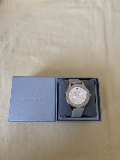 Michele NWT Cape Topaz Rose Gold Taupe Watch MWW27A000023 Image 7