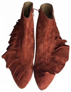 Anthropologie Rust Boots